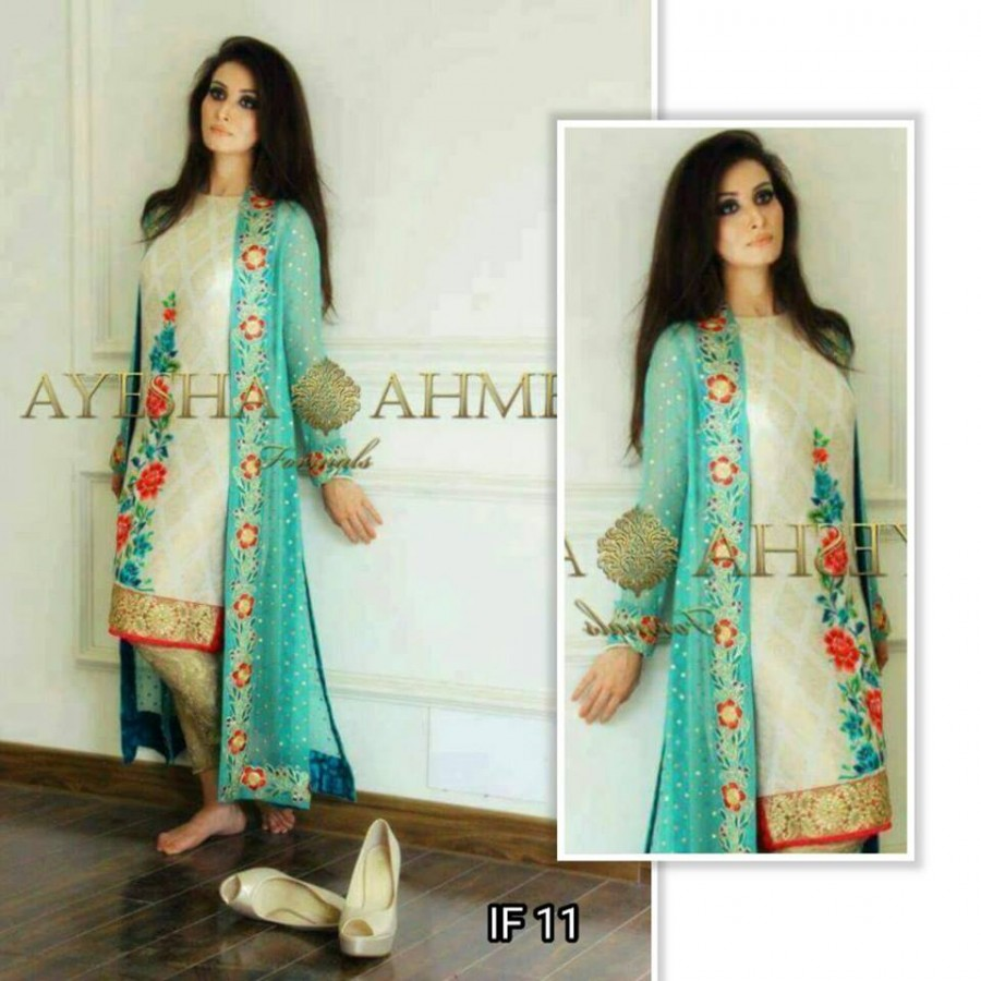 Designer Embroidered 3 piece Suit  (IF 11)