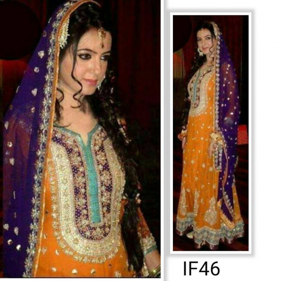 Designer Embroidered 3 piece Suit  (IF 46)