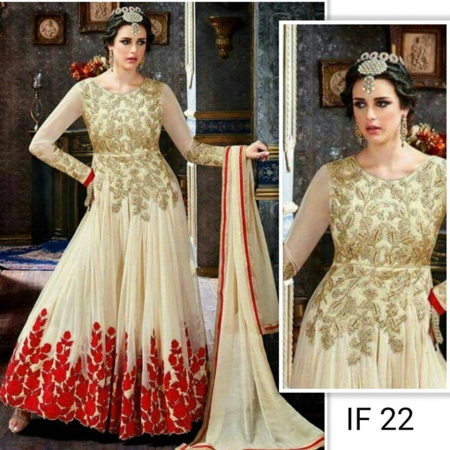Designer Embroidered 3 piece Suit  ( IF 22)