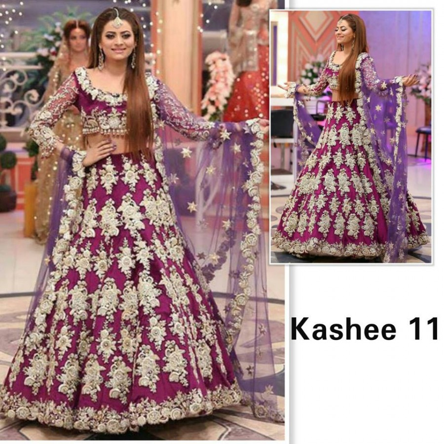 Designer Embroidered 3 piece Suit  (Kashee 11)