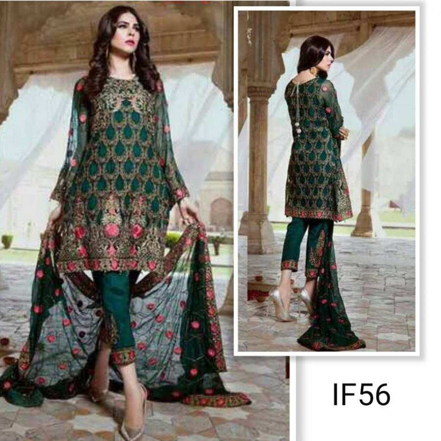 Designer Embroidered 3 piece Suit  (IF 56)