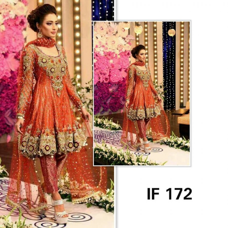 Designer Embroidered 3 piece Suit  ( IF 172)