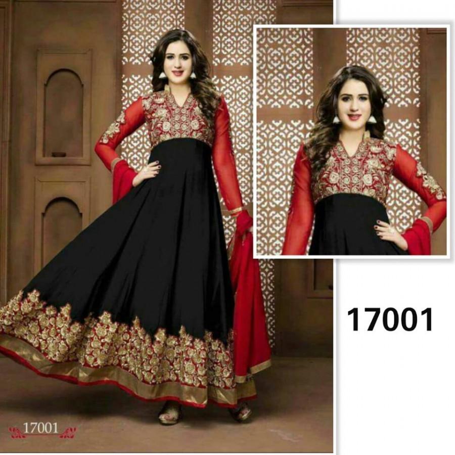 Designer Embroidered 3 piece Suit  (17001)