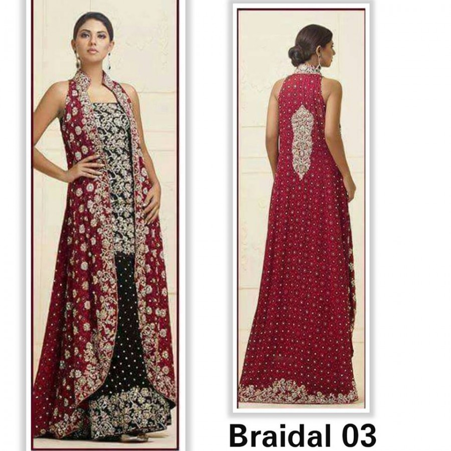 Designer Embroidered 3 piece Suit  (Bridal 03)