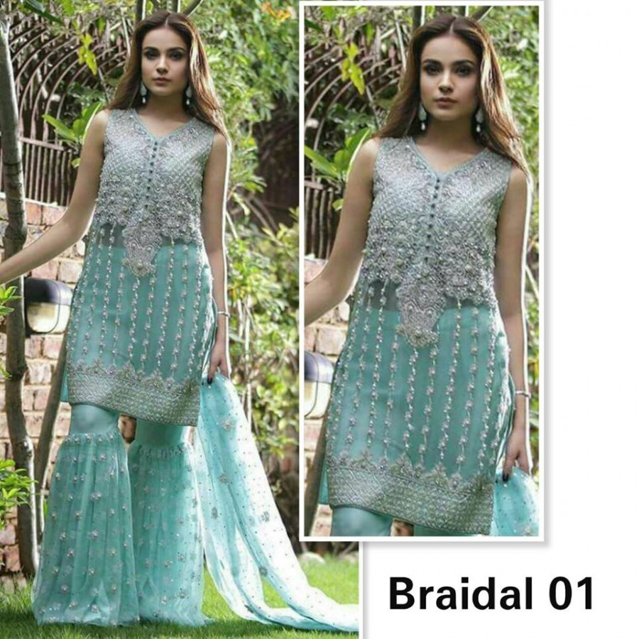 Designer Embroidered 3 piece Suit  (Bridal 01)