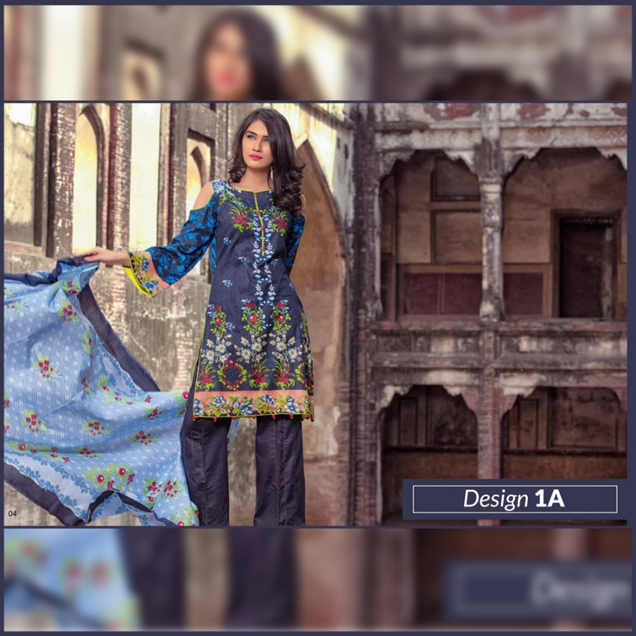 Al-Zohaib Monsoon Lawn Collection (Design 1-A)