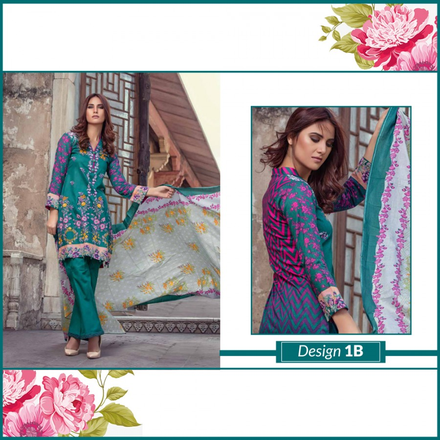 Al-Zohaib Monsoon Lawn Collection (Design 1-B)