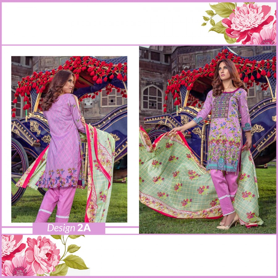 Al-Zohaib Monsoon Lawn Collection (Design 2-A)