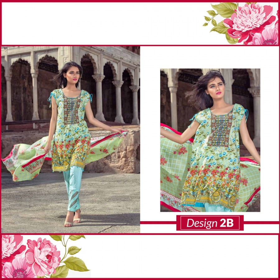 Al-Zohaib Monsoon Lawn Collection (Design 2-B)