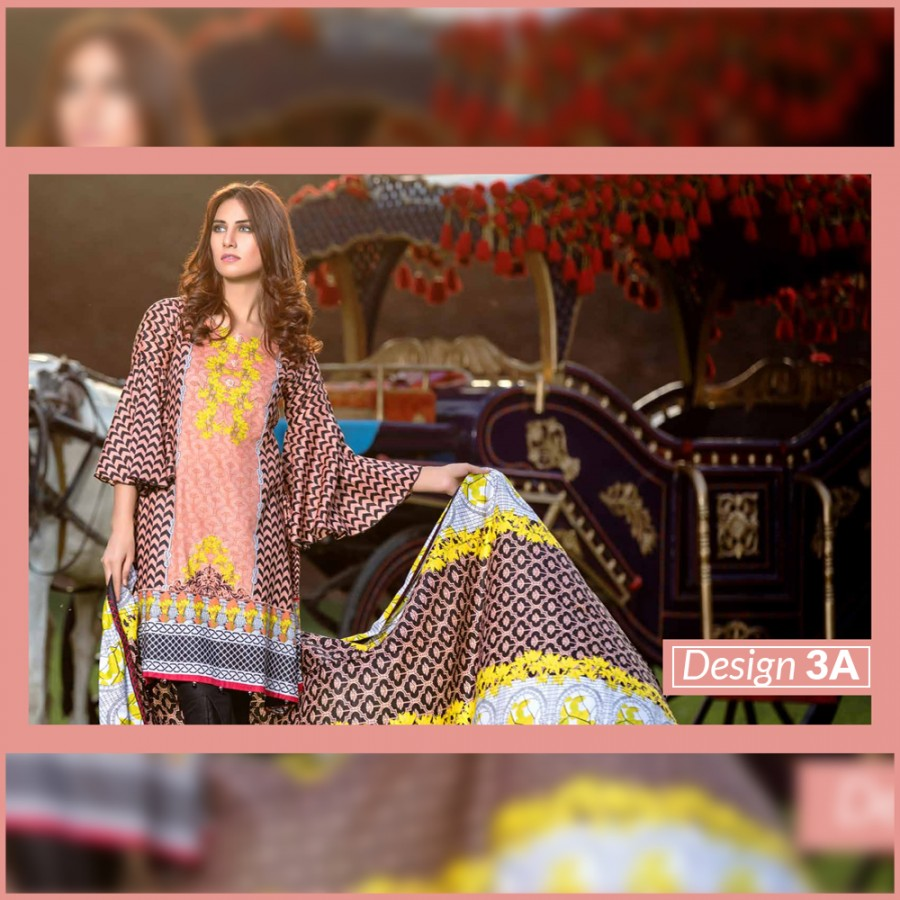 Al-Zohaib Monsoon Lawn Collection (Design 3-A)