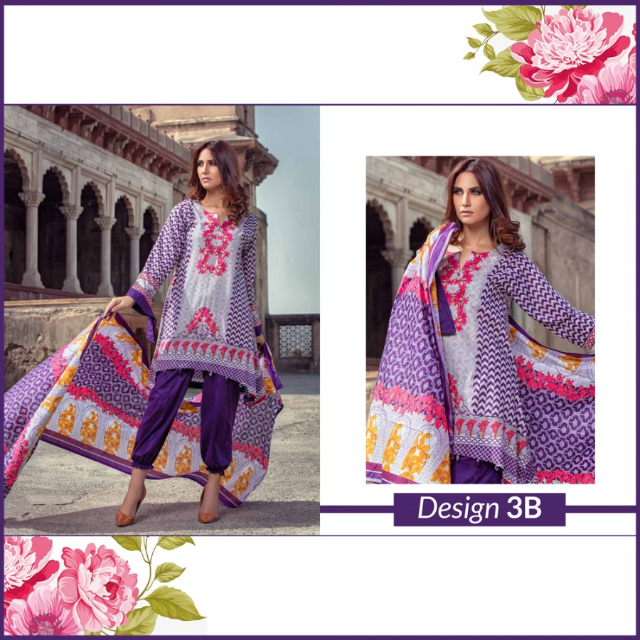 Al-Zohaib Monsoon Lawn Collection (Design 3-B)