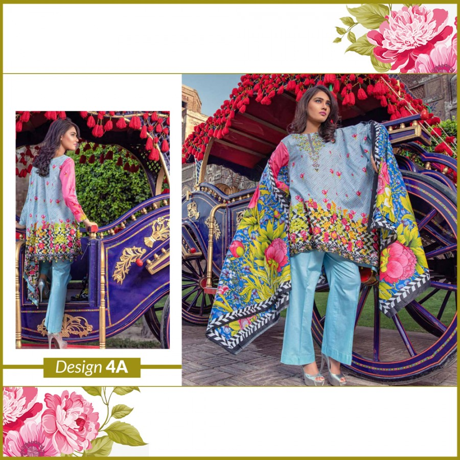 Al-Zohaib Monsoon Lawn Collection (Design 4-A)