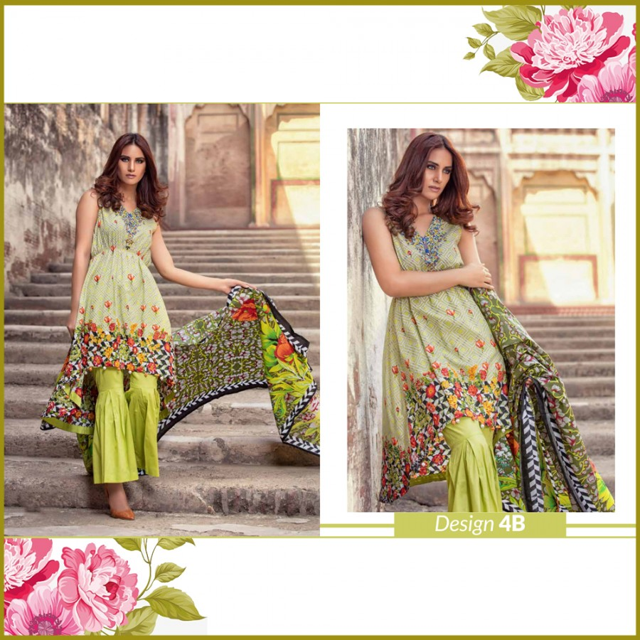 Al-Zohaib Monsoon Lawn Collection (Design 4-B)