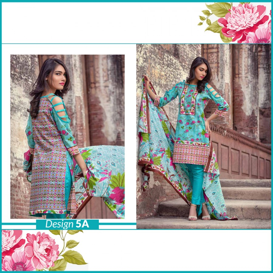 Al-Zohaib Monsoon Lawn Collection (Design 5-A)