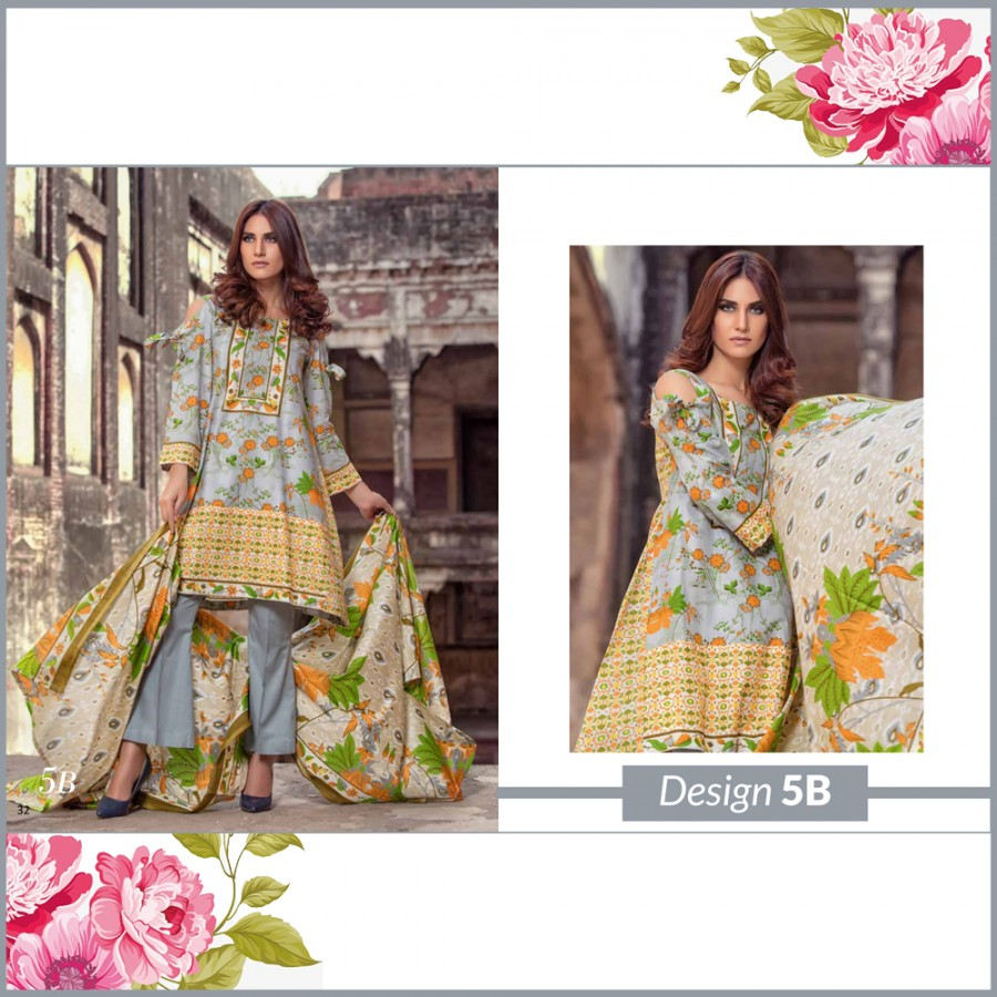 Al-Zohaib Monsoon Lawn Collection (Design 5-B)