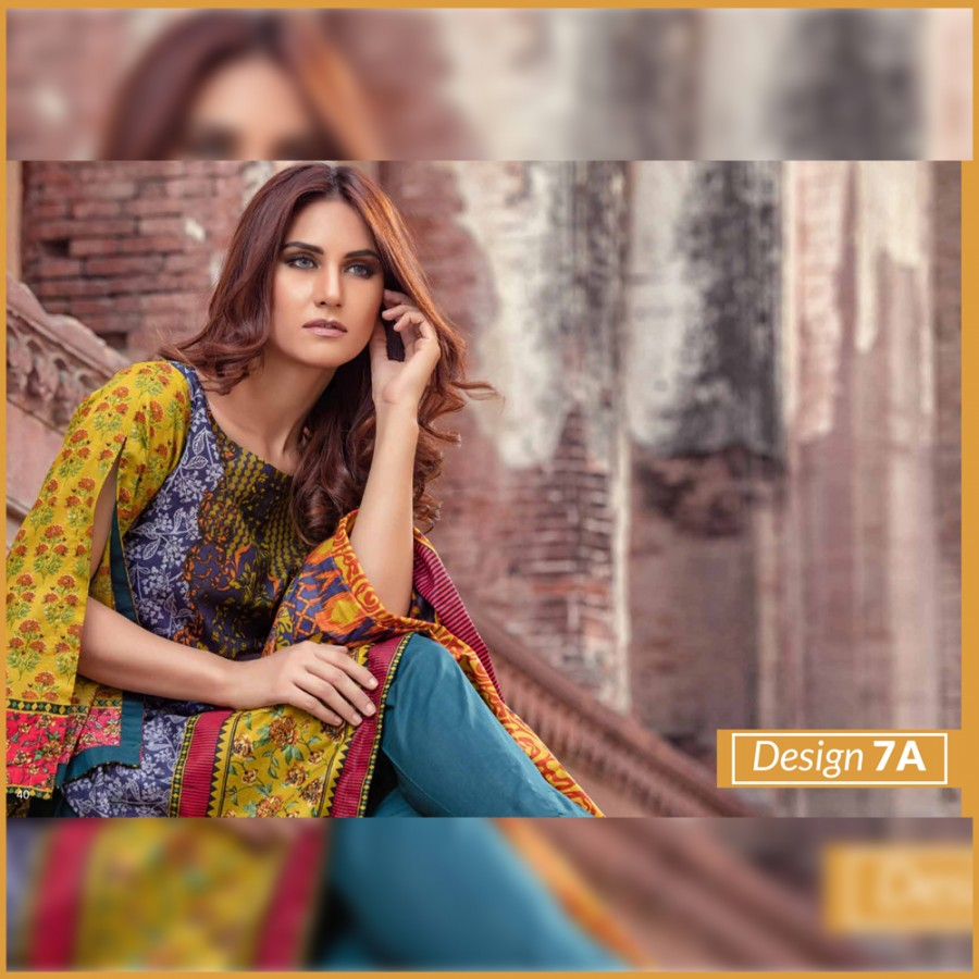 Al-Zohaib Monsoon Lawn Collection (Design 7-A)
