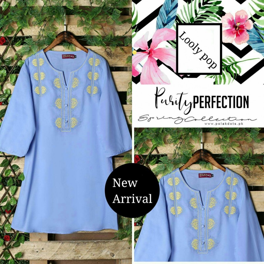 Looly pop purity perfection embroidery kurti