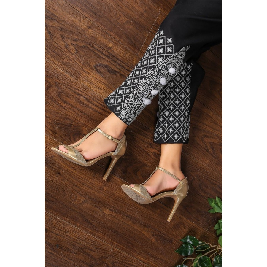 Candy polka dot embroidery cigrate pant - Design 1