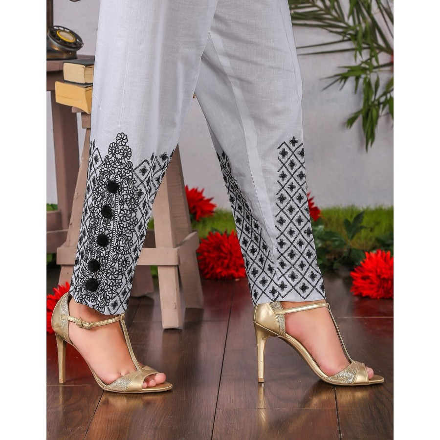 Candy polka dot embroidery cigrate pant - Design 3