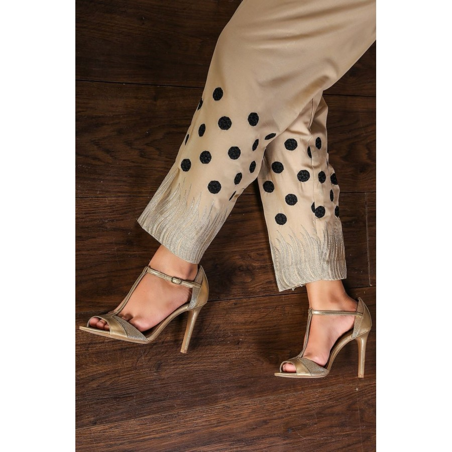 Candy polka dot embroidery cigrate pant - Design 5