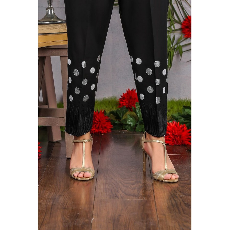 Candy polka dot embroidery cigrate pant - Design 6