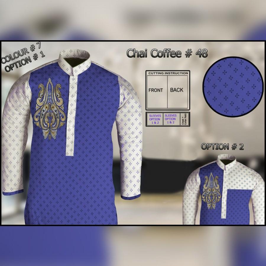 Un-Stitched Kurta ONLY GF  ( Chai Coffee - 48 / Color - 7 )