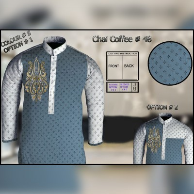 Un-Stitched Kurta ONLY GF  ( Chai Coffee - 48 / Color - 5 )