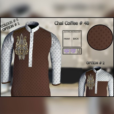Un-Stitched Kurta ONLY GF  ( Chai Coffee - 48 / Color - 6 )