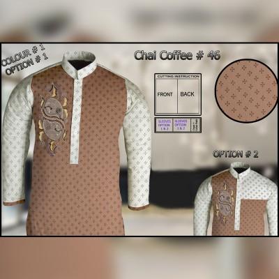 Un-Stitched Kurta ONLY GF  ( Chai Coffee - 46 / Color - 1)