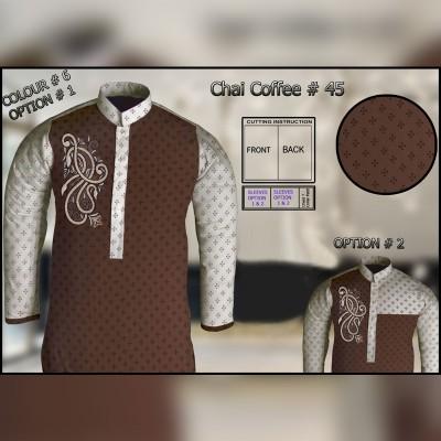 Un-Stitched Kurta ONLY GF  ( Chai Coffee - 45 / Color - 6)
