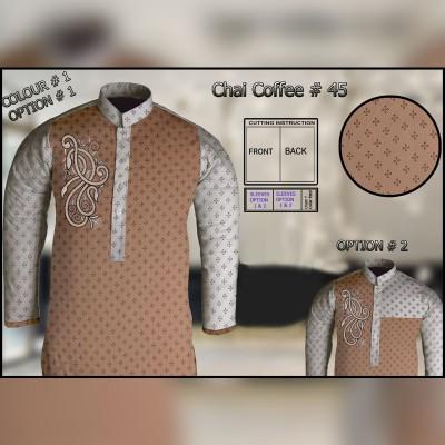 Un-Stitched Kurta ONLY GF  ( Chai Coffee - 45 / Color - 1)