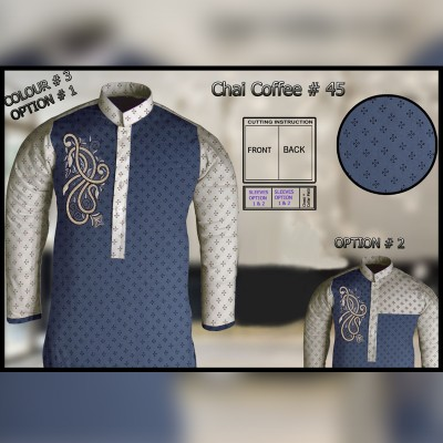 Un-Stitched Kurta ONLY GF  ( Chai Coffee - 45 / Color - 3)