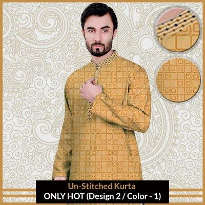 New Un-Stitched Kurta ONLY HOT (Design 2 / Color - 1)