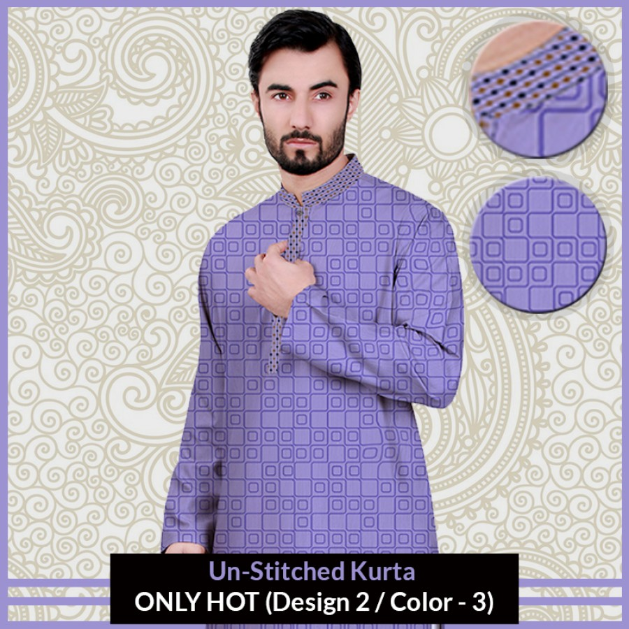 New Un-Stitched Kurta ONLY HOT (Design 2 / Color - 3)
