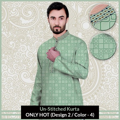 New Un-Stitched Kurta ONLY HOT (Design 2 / Color - 4)
