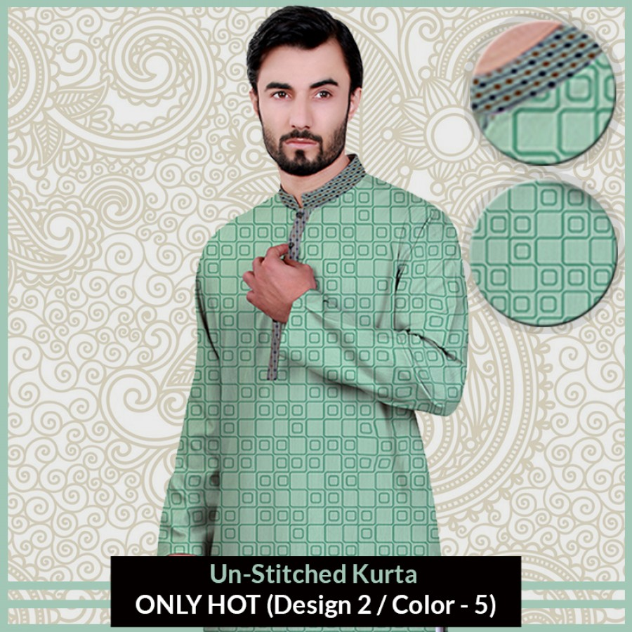 New Un-Stitched Kurta ONLY HOT (Design 2 / Color - 5)