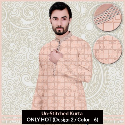New Un-Stitched Kurta ONLY HOT (Design 2 / Color - 6)