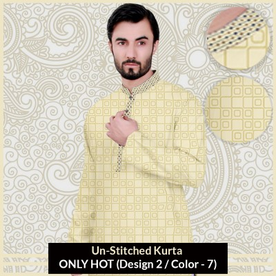 New Un-Stitched Kurta ONLY HOT (Design 2 / Color - 7)