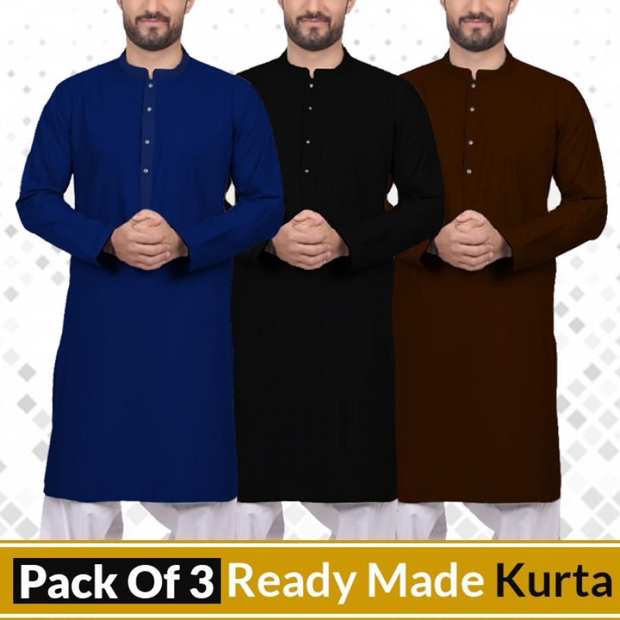 Buy any 3 Ready-Made Stylish Kurtas (005)