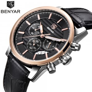 Reloj Hombre 2017 BENYAR Fashion Chronograph Sport Mens Watches Top Brand Luxury Military Quartz Watch Clock Relogio Masculino
