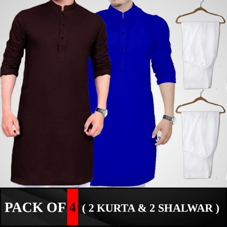 Pack Of 4 ( 2 Kurta,2 Shalwar )