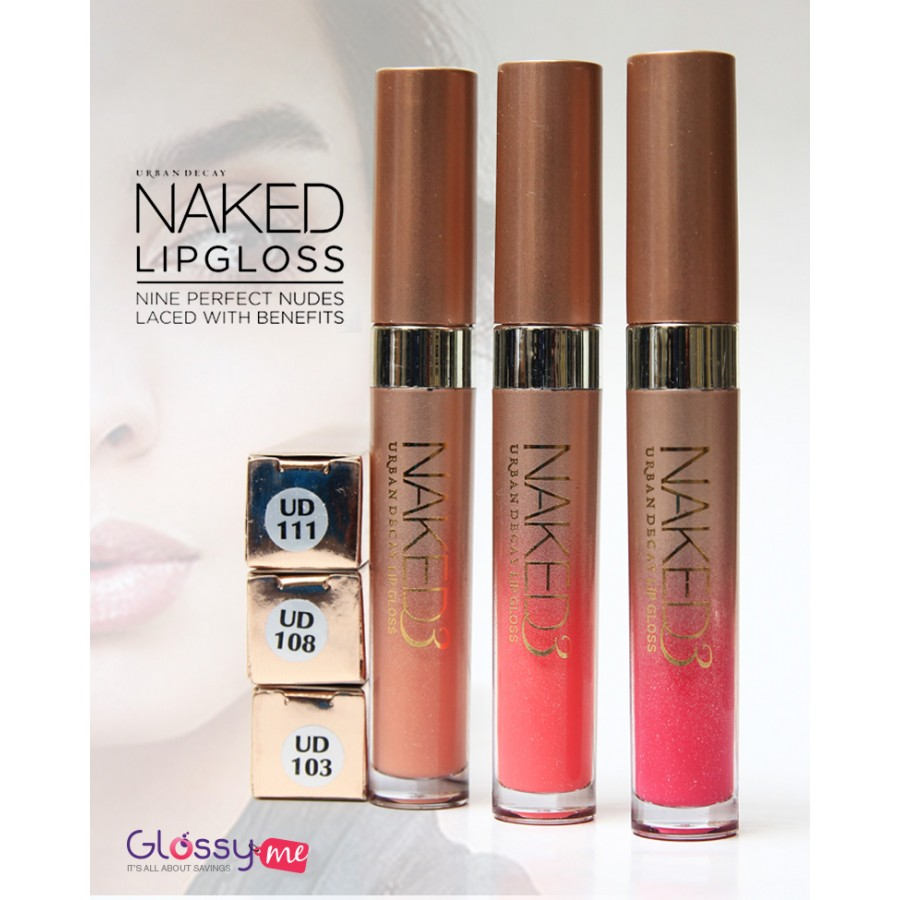 NAKED LIPGLOSS PACK OF 3