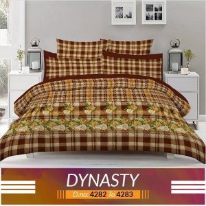 3 piece King Size Bed sheet  ( D.no:4282 to 4283 )