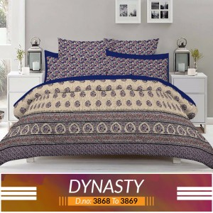 3 piece King Size Bed sheet  ( D.no:3868 to 3869 )