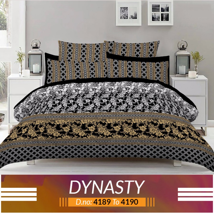 3 piece King Size Bed sheet  ( D.no:4189 to 4190 )