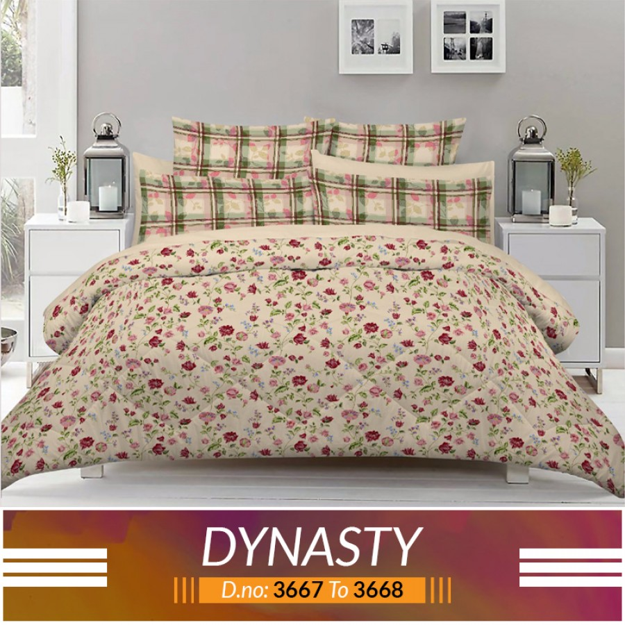 3 piece King Size Bed sheet  ( D.no:3667 to 3668 )