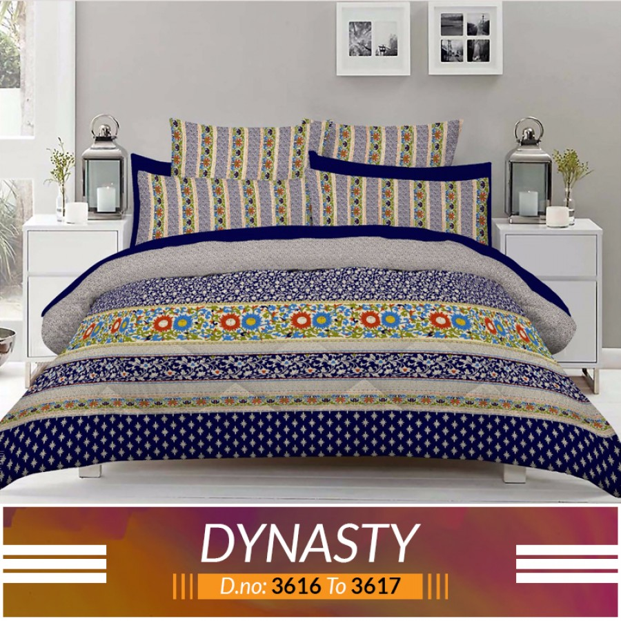 3 piece King Size Bed sheet  ( D.no:3616 to 3617 )