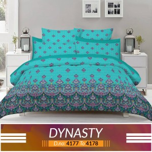 3 piece King Size Bed sheet  ( D.no:4177 to 4178 )