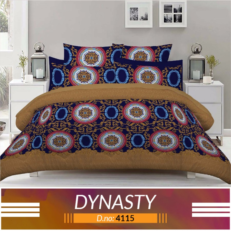 3 piece King Size Bed sheet  ( D.no:4115 )