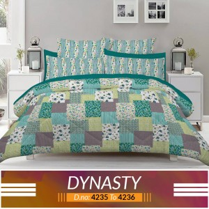 3 piece King Size Bed sheet  ( D.no:4235 to 4236 )